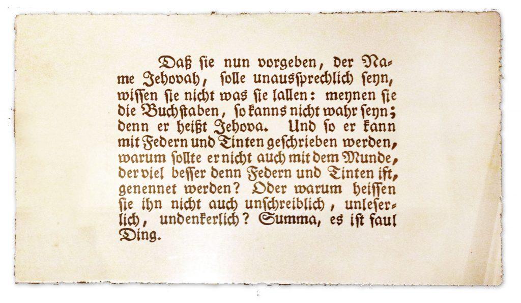Jehovah manuscript